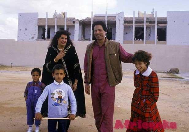 Каддафи с семьей