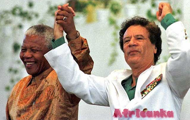 Каддафи с Нельсоном Манделлой