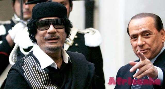 Каддафи и Берлускони