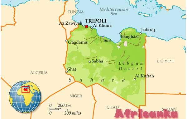 Ливия на карте