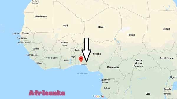 Нигерия на карте