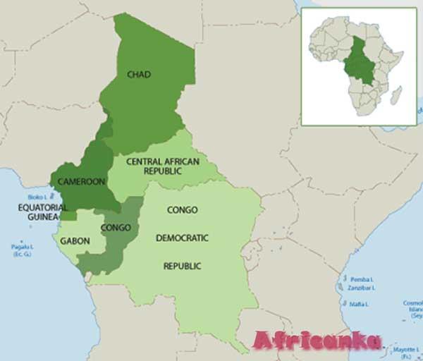 Центральноафриканская Республика на карте