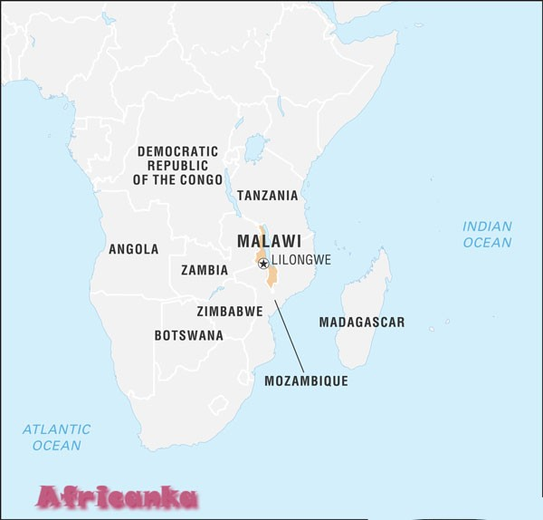 Малави на карте