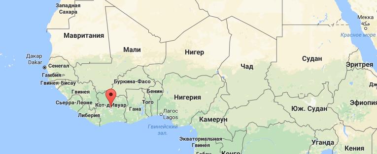 Границы Кот-Д'Ивуара