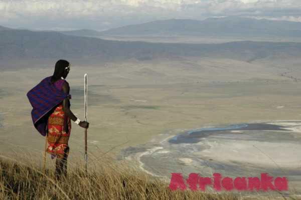 Масаи кратер Нгоронгоро