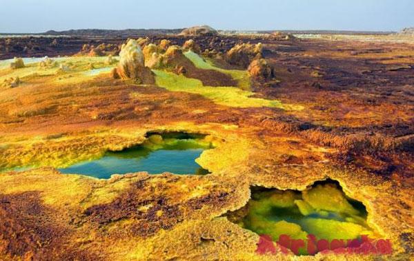 Даллол, Эфиопия: самое жаркое место на Земле