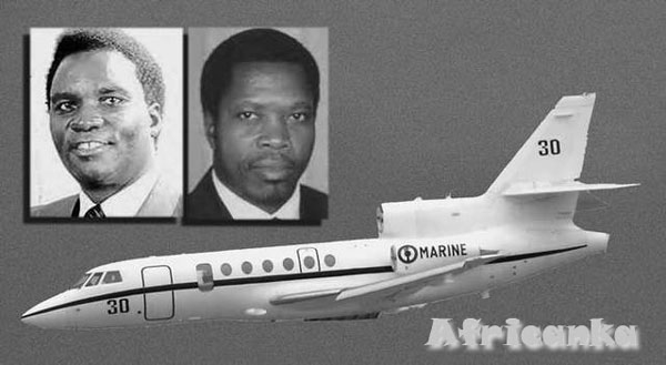 самолет, перевозивший Хабьяриману и президента Бурунди Сиприена Нтарьямира
