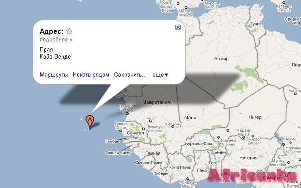 Кабо Верде на карте