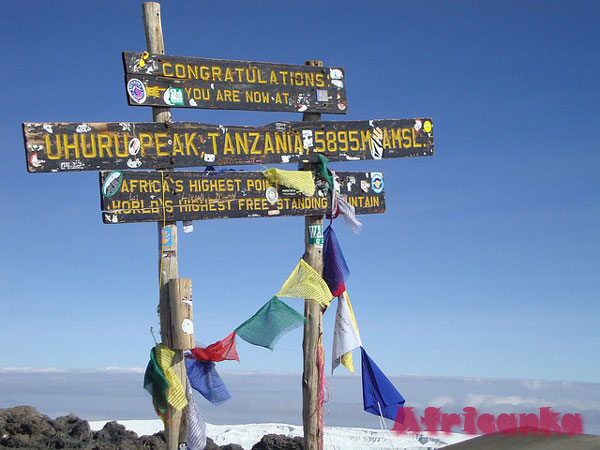 Вершины горы Килиманджаро
