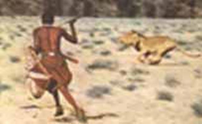 охота на львов Масаи