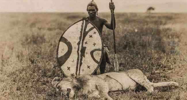 Охота на львов, традиция племени Масаи