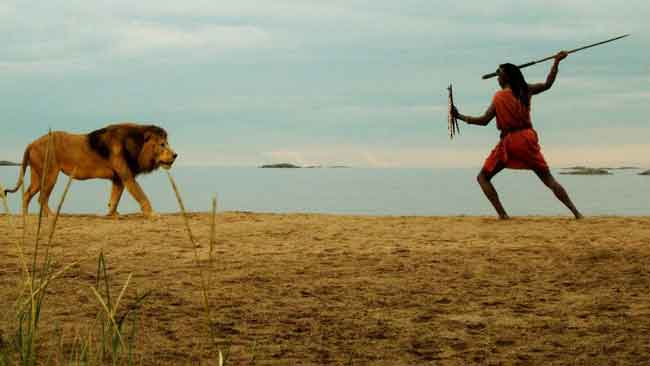 Одиночная охота на льва