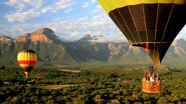 Полеты на воздушном шаре ЮАР